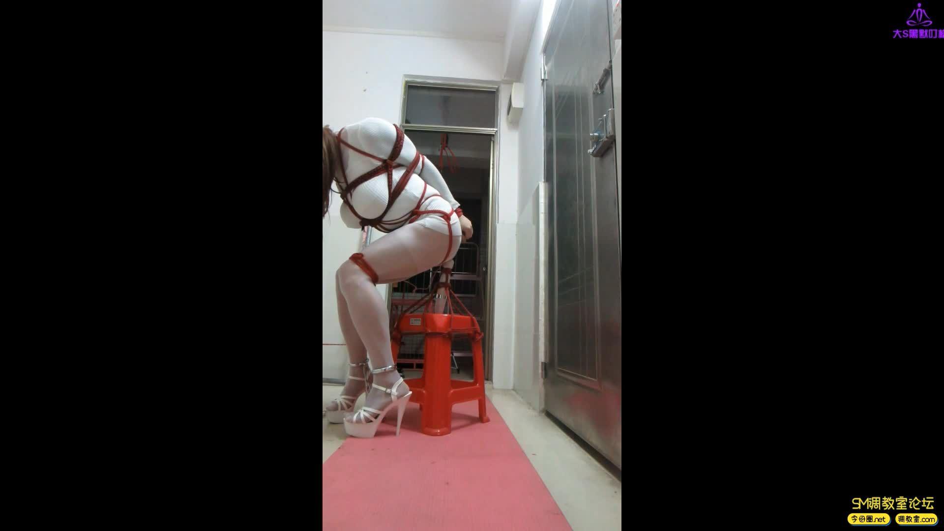 CD伪娘小诡的自缚29 脚铐加自制按摩凳-视频截图3