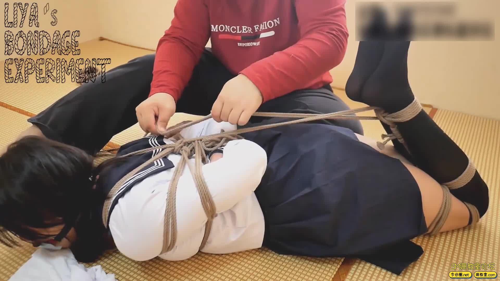 莉雅的定拍之作 JK绑架案 学生服捆绑-视频截图5
