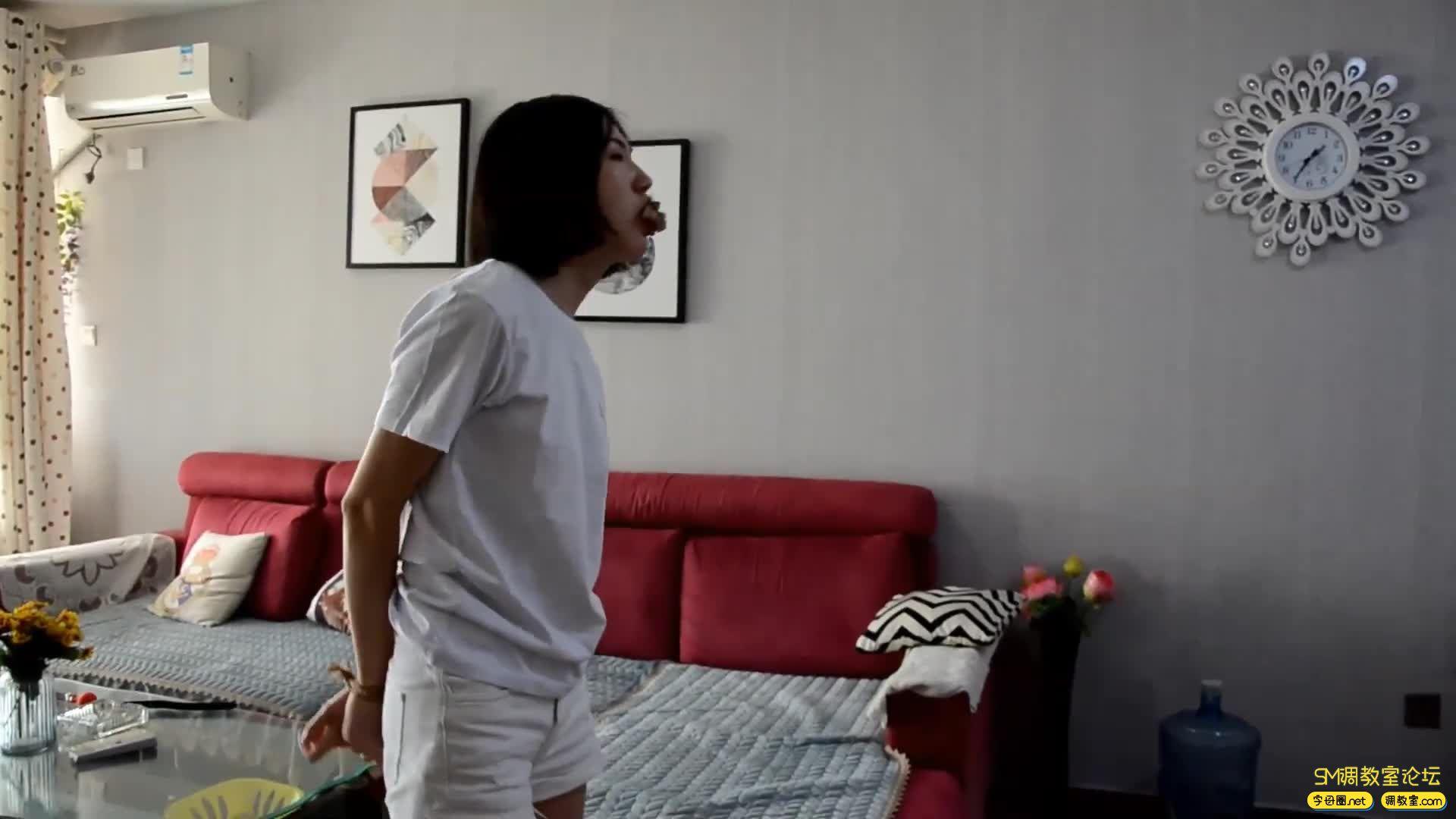 得意客原创_美女小鱼遇劫逃脱未遂惨遭二次捆堵折磨-视频截图5
