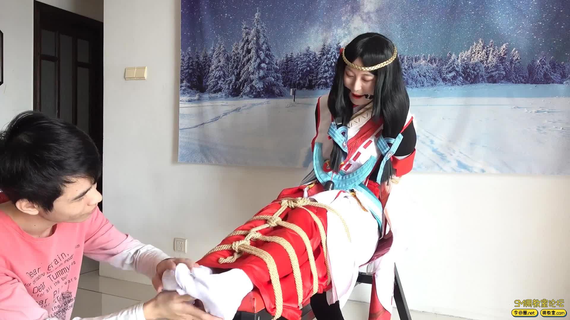 【自己做主】【cosplay TK】 新人妹子八百比丘尼TK-视频截图5