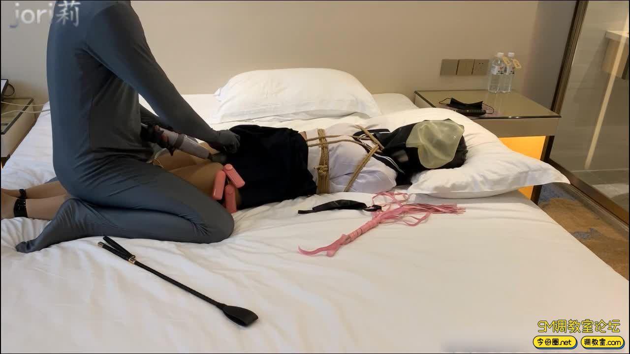 jori莉原创_ JK丝袜少女的受虐日记,制服诱惑 感官束缚-视频截图8