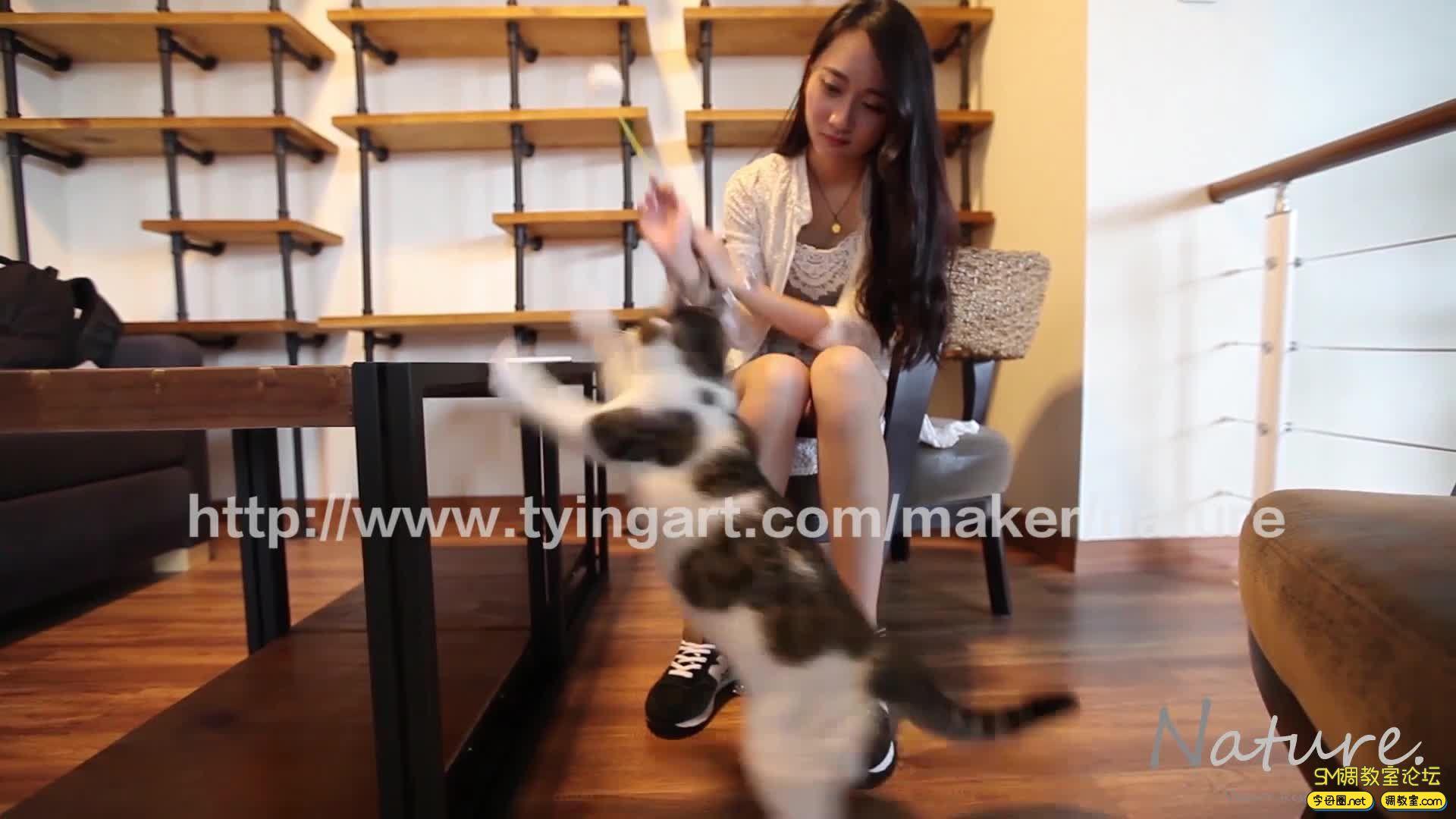 缚リ芸术 TYINGART镣铐美女戏弄小花猫-视频截图5