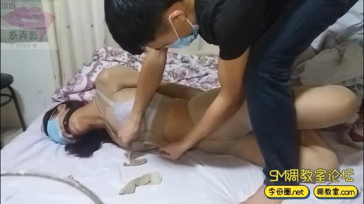 绳子与丝袜 强制口环-视频截图7