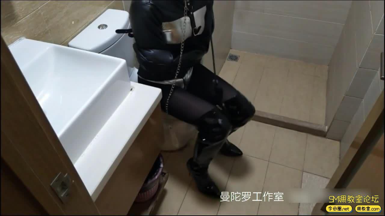 拘束衣 扎带配合强制拘束 加尾巴-视频截图1