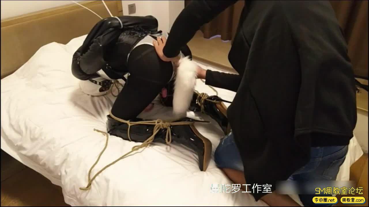 拘束衣 扎带配合强制拘束 加尾巴-视频截图6