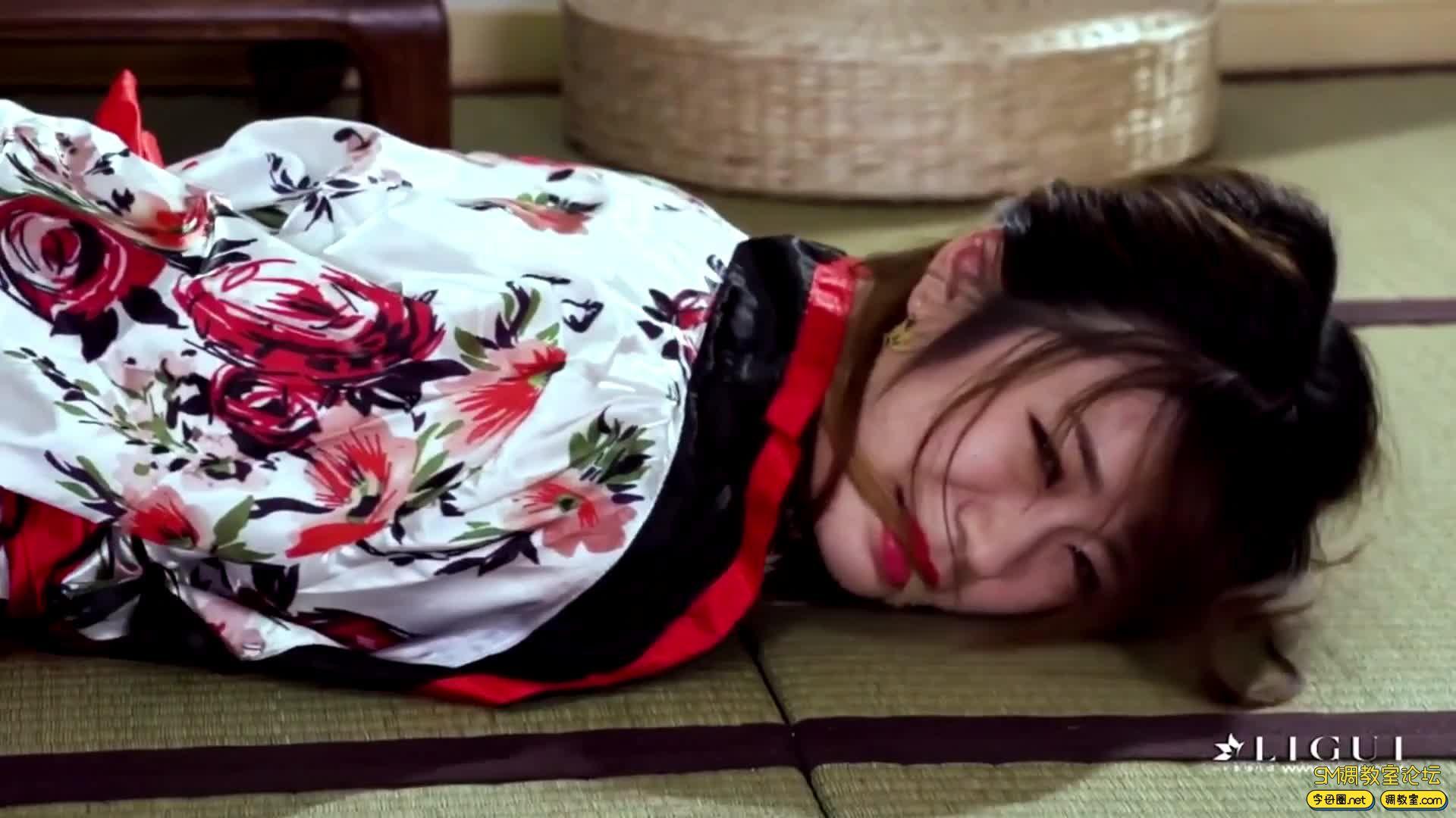 丽柜美束_紧缚名莲之口缚和妹安娜-视频截图4