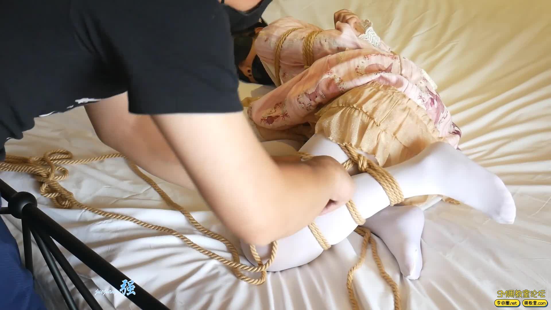 【小羽】第二弹 M腿 放置 挠脚丫 尝试脱出-视频截图2