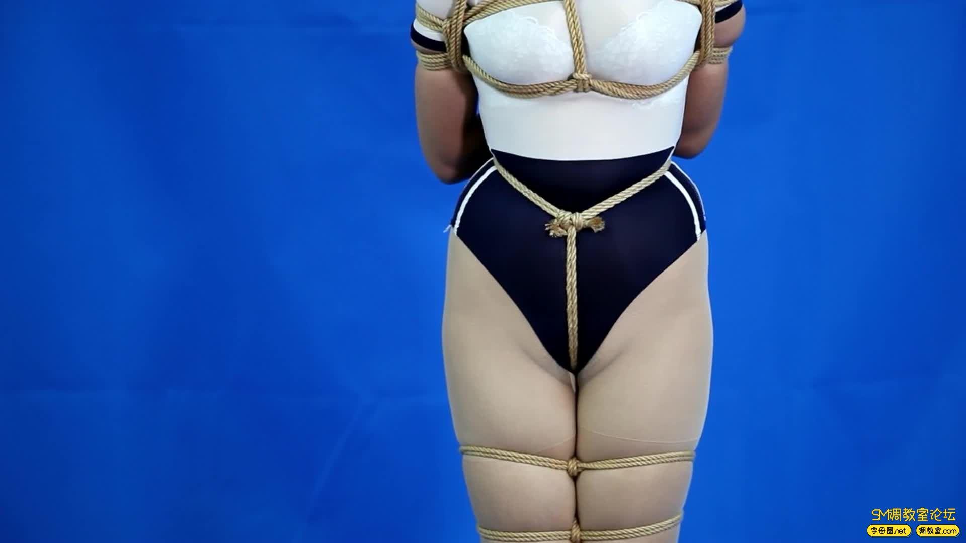 CLZ原创_灵粒丝袜套头大号口球并腿超级缚-视频截图5