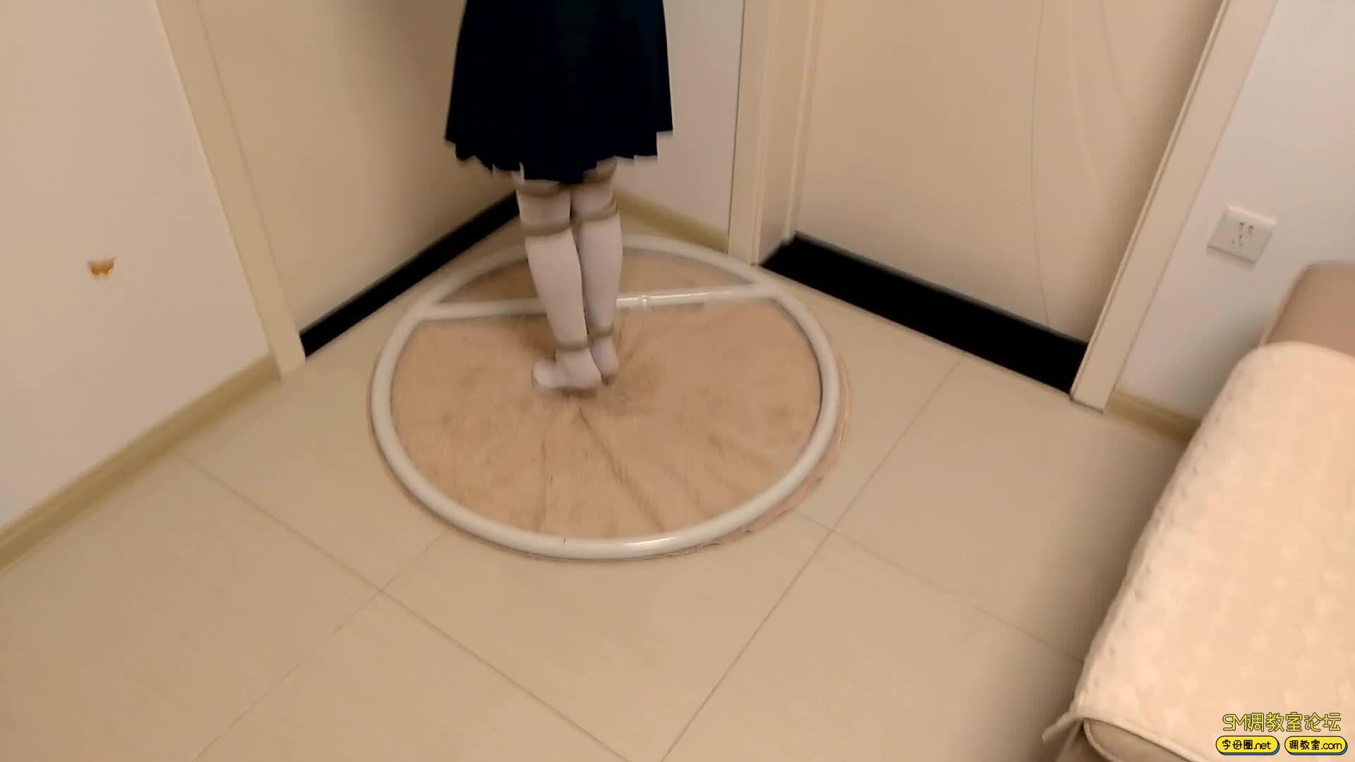 【旋律受虐记22】白丝JK吊缚 脚尖踮地吊 单腿吊-视频截图2